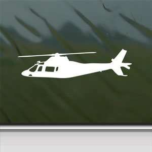 Agusta A109 Helicopter White Sticker Laptop Vinyl Window