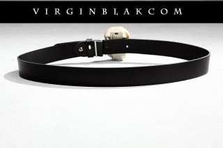 vb HOMME Mens LED Ligh Bone Skull Leather Belt 1ZJ