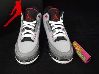 Nike Air Jordan 3 III Retro Stealth Red Black US8~11.5 Basketball
