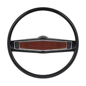 1969 70 STEERING WHEEL KIT BLACK/CHERRYWOOD Automotive