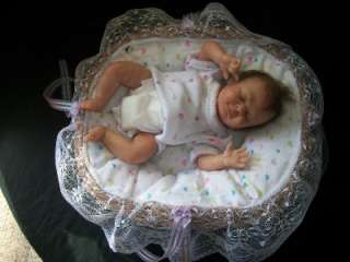 Micro preemie reborn baby girl tiny 10 baby doll! sculpt by Denise