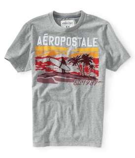 aeropostale mens aero 87 surf sunset graphic t shirt |