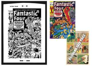 Jack Kirby Fantastic Four #100 Rare Large Production Art Cover