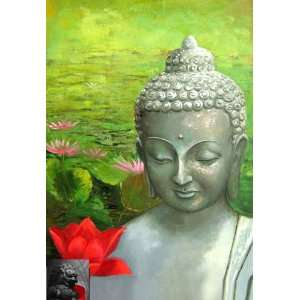 Abstract Art Painting Buddha Painting Buddhist Painting: