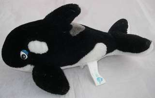 Sea World Plush SHAMU Orca Killer Whale Cartoon Eyes 9