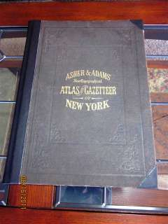 1871 NEW YORK ATLAS STATE & COUNTY,ASHER ADAMS,LARGE UNITED STATE MAP
