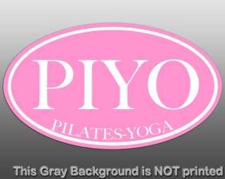 Oval PIYO Sticker   decal pilates yoga fusion gym health workout pose
