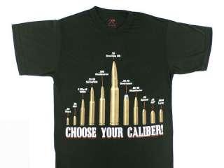 Caliber T Shirt RKBA 2nd Amendment Guns Firearms Ammunition