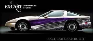 RACE CAR GRAPHICS Vinyl Wrap Stripes IMCA Late Model ##