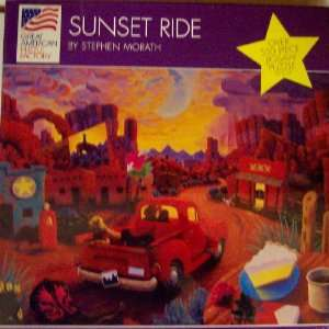 Great American Sunset Ride 500 Piece Jigsaw Puzzle Toys