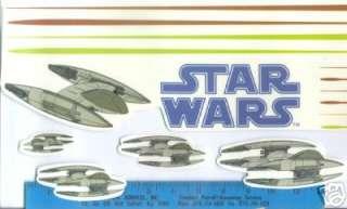 STAR WARS Space battle wall sticker over 60 decals Clone big room