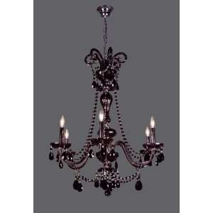Black Monte Carlo Elite 35 Crystal Chandelier from the Monte