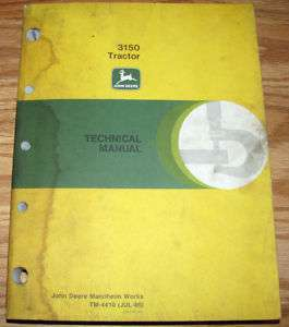 John Deere 3150 Tractor Technical Repair Service Shop Manual jd book