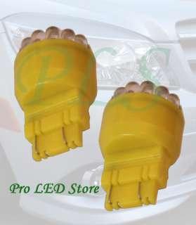 3157 Amber Yellow 19 LED Turn Signal Tail Backup Light