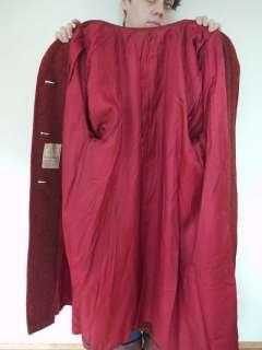 50s HARRIS TWEED Scottish Wool Full Length Coat Jacket Womens