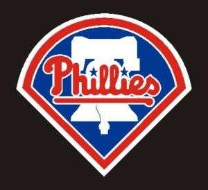 Philadelphia Phillies Logo Bell Color Sticker,4x3.5#3k