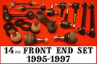 14pcs UPPER BALL JOINT,LOWER BALL JOINT,LINK,PITMAN ARM,IDLE ARM,TIE