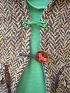 MISS SIXTY amazing girls herringbone fitted tweed blazer jacket coat 6