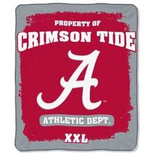 NCAA Alabama Crimson Tide 50 Inch by 60 Inch Micro Plush