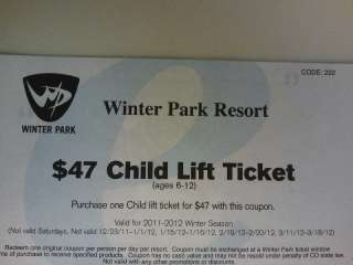 Winter park lift ticket coupons