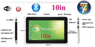 10Win7 tablet P100 Intel Atom N570 dual core Wifi 3G 1.66Ghz 2G 32G