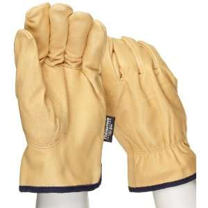 West Chester 9940KT Leather Glove, Shirred Elastic Wrist Cuff, 10.25