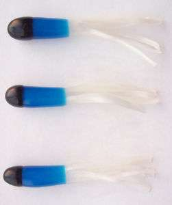 50 Crappie Jig Bodies 1.5 inch Black Blue White TC01