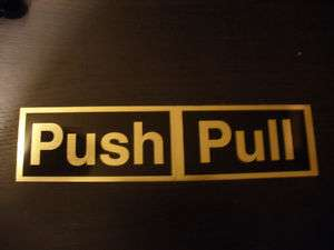 PUSH PULL DOOR STICKERS decals window sticker sign USA