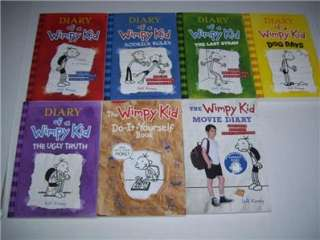 New Diary of a Wimpy Kid Book Lot Jeff Kinney 7 Books