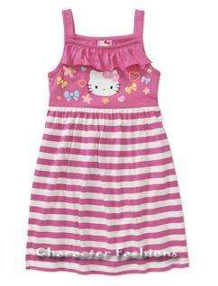 HELLO KITTY Jersey DRESS Size 4 5 6 6X 7 8 10 12 14 16 Outfit Skirt