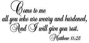 Christian rubber stamp Matthew1128 bible verse, M #1