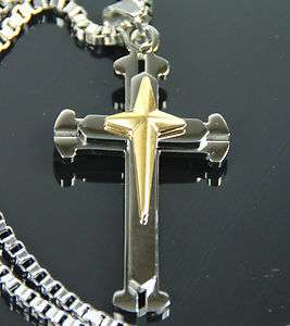 Christian Stainless Steel Religions Cross Jesus Christ Necklace Chain