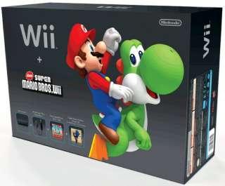 Nintendo Wii Black Console   New Super Mario Bros Bundle (NTSC