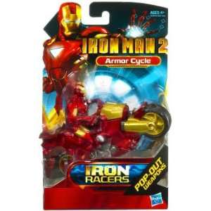 Iron Man 2 Movie Iron Racers Vehicle Armor Cycle Toys