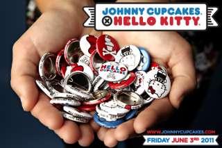 JOHNNY CUPCAKES HELLO KITTY RARE BUTTONS 9 BOTTONS SUPREME DIAMOND