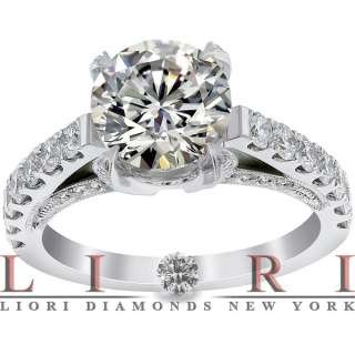 CERTIFIED NATURAL ROUND DIAMOND ENGAGEMENT RING 18K GOLD ER 727