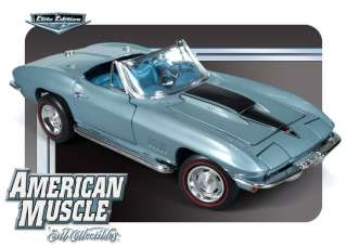 AMM952 118 1967 CHEVROLET CORVETTE L88 ELKHART BLUE DIECAST MODEL CAR