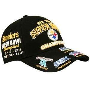 Pittsburgh Steelers 6 time Super Bowl Champions Hat Cap