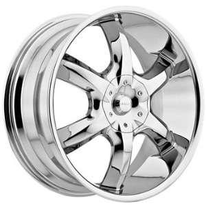 Akuza Lucuna 22x8.5 Chrome Wheel / Rim 5x115 & 5x120 with
