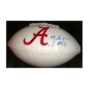ALABAMA CRIMSON TIDE LOGO FOOTBALL COA + HOLOGRAM: Sports & Outdoors