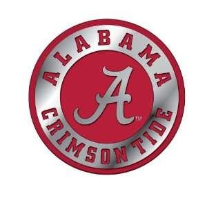 University of Alabama Crimson Tide NCAA College Red & Chrome Plated