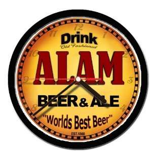 ALAM beer and ale wall clock: Everything Else