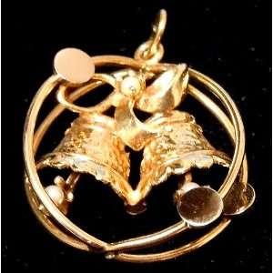 14K Yellow Gold Wedding Bell Charm/Pendant Everything