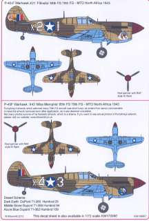 Kits World Decals 1/48 CURTISS P 40F WARHAWK 79th FG North Africa #1
