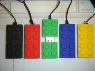 8GB Brick Flash Drive Memory Stick w Lego Bulb Keychain