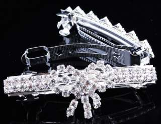 Rhinestone Crystal Hairpin Spring Clip Barrettes Hair Jewelry