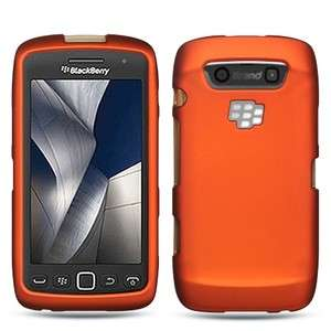 Orange Rubberized HARD Case Phone Cover for BlackBerry Torch 9850 9860