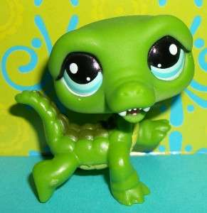 Littlest Pet Shop~#987 GREEN ALLIGATOR/CROCODILE Special Edition~N151