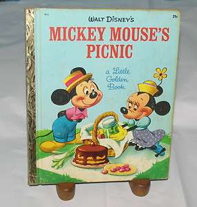 LITTLE GOLDEN BOOK WALT DISNEYS MICKEY MOUSES PICNIC Jane Werner
