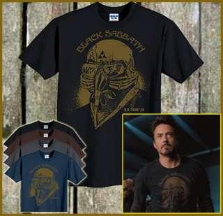 Black Sabbath Iron Man T Shirt Tony Stark Robert Downey Jr The